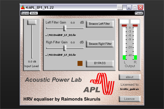 APL AP1 VST plugin with a FIR engine. The most pristine sounding FIR plugin to date.
