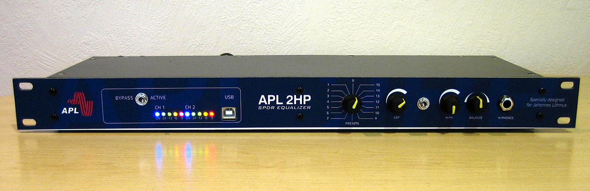 APL2, a pristine sounding rack-mount FIR filter processor with speakers management and a headphone amplifier.